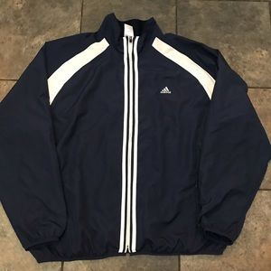VTG Adidas Full Zip Windbreaker Jacket Size XL